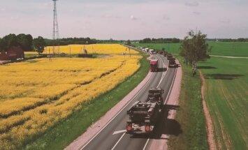 Video: Latvijā ierodas Polijas armijas tanki