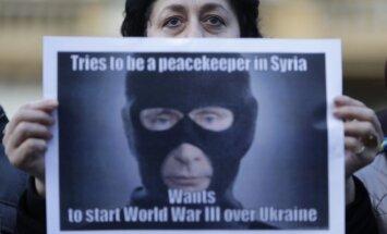 Foto: Visā pasaulē protestē pret Krievijas agresiju Ukrainā