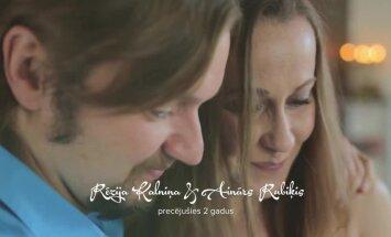 Video: Rēzija Kalniņa ļauj ielūkoties savā laulības dzīvē