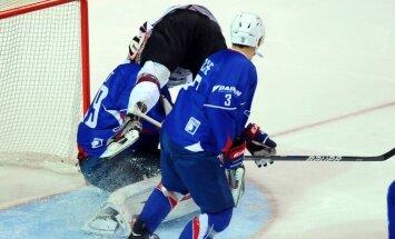Latvijas hokejisti pārbaudes spēlē uzņem Franciju