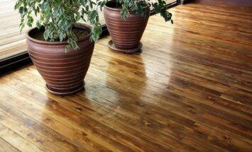 Padomi, kā ikdienā rūpēties par koka grīdām