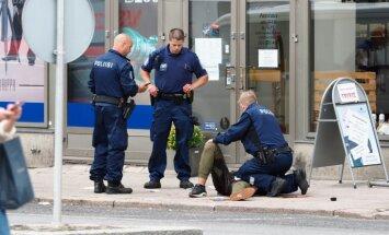 Somijas policija pēc uzbrukuma Turku aizturējusi piecus cilvēkus