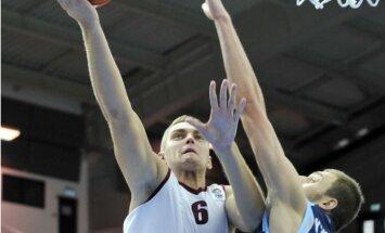 Freimaņa rezultativitāte sekmē Latvijas izlases uzvaru pirmajā 'Eurobasket 2013' spēlē