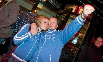 Igauņu volejbola līdzjutēji sola 'Arēnas Rīga' tribīnes nokrāsot sava karoga krāsās 'gadsimta cīņā'