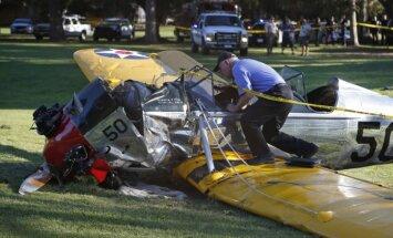 ASV lidmašīnas avārijā ievainots aktieris Harisons Fords