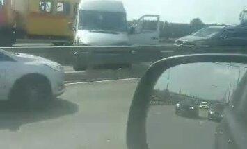 ФОТО, ВИДЕО: Авария на Островном мосту, движение в центр возобновлено