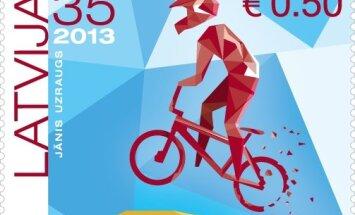 Prezentēs Latvijas BMX braucējiem veltītu pastmarku