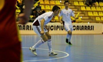 Latvijas telpu futbolisti zaudē arī noslēdzošajā EČ kvalifikācijas pamatturnīra spēlē