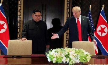 Tramps: bez manis ASV šobrīd karotu ar Ziemeļkoreju