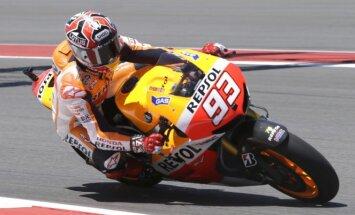 Markesam pārliecinoša uzvara 'MotoGP' sezonas otrajā posmā; Lorenso falšstarts