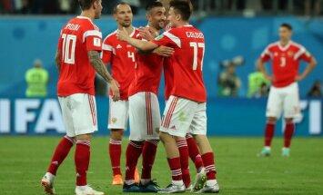 Сборная России забила три мяча Египту и выиграла второй матч на домашнем ЧМ-2018
