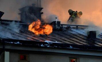 Zviedrijas Karaliskā mākslas institūta ēkā Stokholmā izcēlies plašs ugunsgrēks