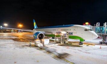 """В аэропорту """"Рига"""" впервые приземлился Boeing 787 Dreamliner"""