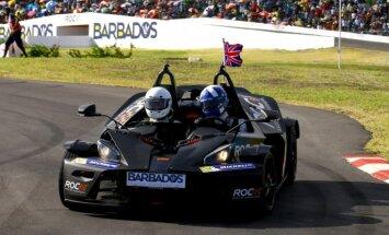 Izsola iespēju izbraukt kopā ar Deividu Kulthārdu 'Race of Champions' bolīdā
