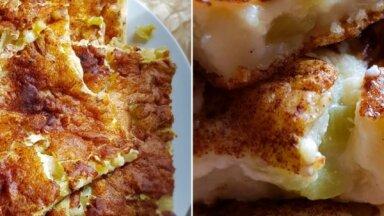 Sezonas gardums – kefīra mīklas rabarberu plātsmaize