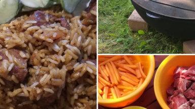 Foto recepte: vienkāršais plovs kazanā 15 ēdājiem