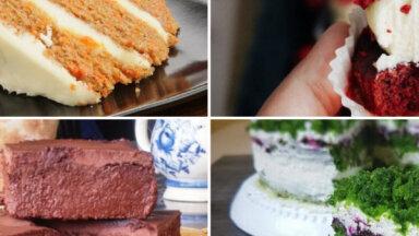 Ar burkāniem, spinātiem un pat saldo kartupeli: 14 sulīgas tortes un kūkas no dārza veltēm