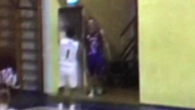 Video: Provokācijas noved līdz žņaudzienam – LBL 2 mačā cieš U-18 izlases spēlētājs (plkst. 14.43)