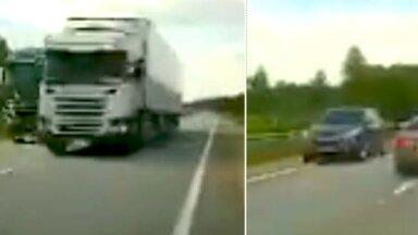 Video: Somijas iedzīvotājs izbrīnīts par bīstamajām apdzīšanām uz Tīnūži-Koknese autoceļa