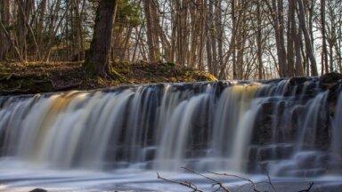 Pavasara meklējumos: skaistie Īvandes ūdenskritumi