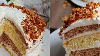 Vienkāršā skābā krējuma torte