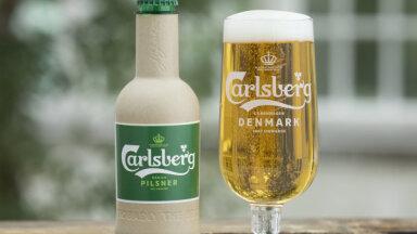 'Carlsberg' izveidojis papīra alus pudeles prototipus