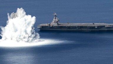 Video: Milzu aviācijas bāzes kuģi pārbauda ar sprāgstvielām