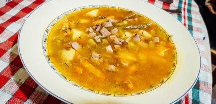 Суп из соленых огурцов с почками