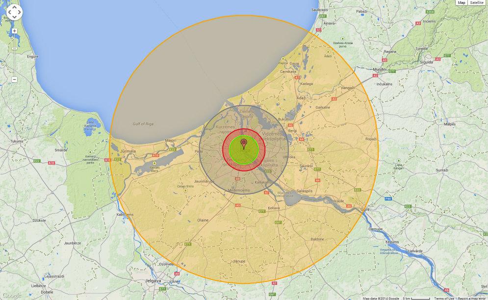 Зона поражения: что будет, если в Риге начнут падать атомные бомбы