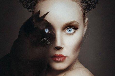 Māksliniece izmanto dzīvnieku acis jauna foto projekta realizēšanā