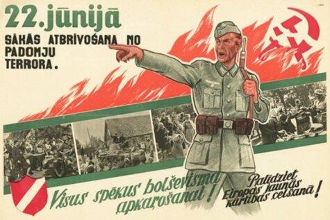 Латвийский провайдер построил рекламу на немецкой агитке времен Второй мировой