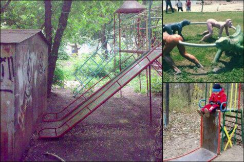 Получи, Нил! 17 детских площадок круче той, что на выходных открыли в Риге