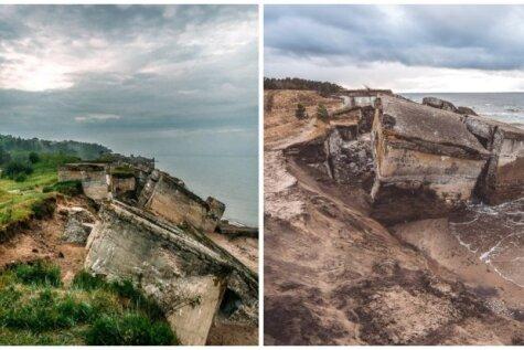 Foto: Kā Karostas forti izskatās pēc nobrukuma