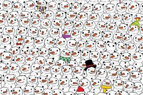 Тысячи людей не могут найти одинокую панду в толпе снеговиков... а ты сможешь?