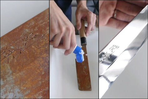 ВИДЕО о превращении ржавого ножа в
