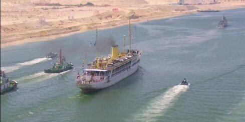 Ēģipte atklāj paplašināto Suecas kanālu