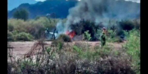 Helikoptera avārijā Argentīnā bojā gājuši desmit cilvēki, tostarp trīs Francijas sporta zvaigznes