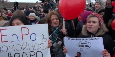 Protesta akcija Sanktpēterburgā