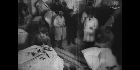 Arhīva video - Brīvības pieminekļa apdares darbi, 1935. gads