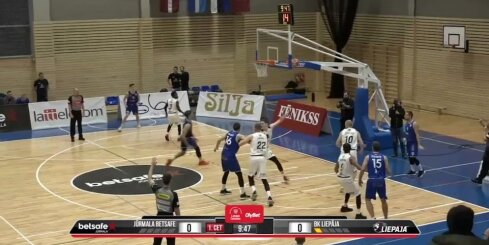 'OlyBet' basketbola līga: 'Betsafe/Jūrmala' - 'Liepāja'. Spēles labākie momenti