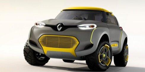 'Renault Kwid' prototips ar 'lidojošo draugu'