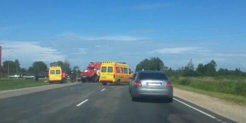 Avārija uz Ventspils šosejas