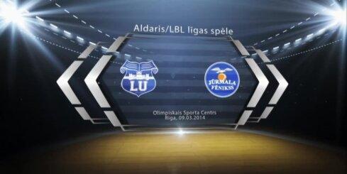 'Aldaris Latvijas Basketbola Līga' - 'Latvijas universitāte' - 'Jūrmala/Fēnikss'