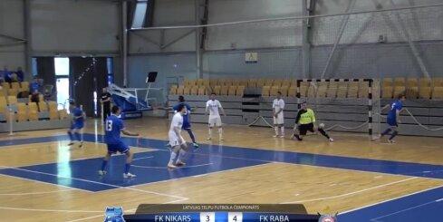 Telpu futbols - 'FK RABA' - 'FK Nikars' - 21. aprīļa spēles vārtu guvumi