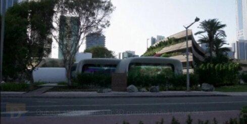 Dubaijā atklāta pirmā ar 3D printeri radītā biroja ēka
