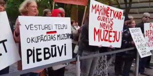 Piketā aicina nekavēties ar Okupācijas muzeja rekonstrukciju