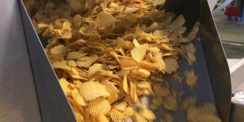 Ieskats vafeļčipsu ražošanas procesā