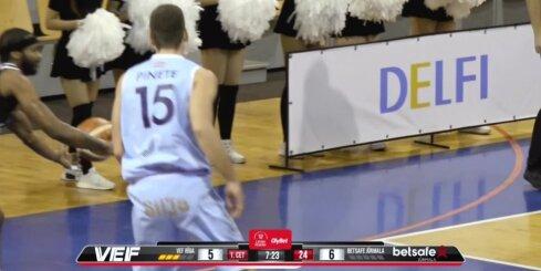 'OlyBet' basketbola līga: 'VEF Rīga' - 'Betsafe/Jūrmala'. Spēles labākie momenti