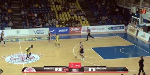 'Ventspils' basketbolistiem graujoša uzvara