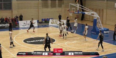 'OlyBet' basketbola līga: 'Betsafe/Jūrmala' - 'Parnu Sadam'. Spēles labākie momenti (15.12.2018.)